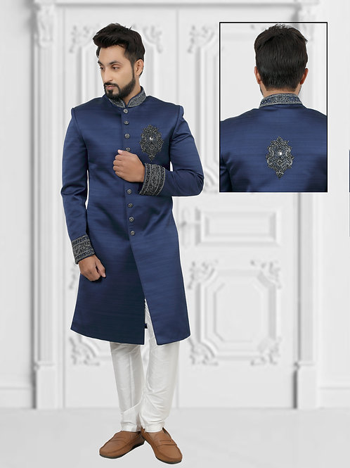 Ethnic | Blue Sherwani | Indian | Sherwani