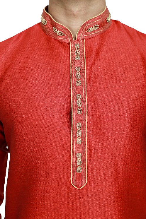 Ethnic | Embroidered Cotton Kurta Pajama | Indian