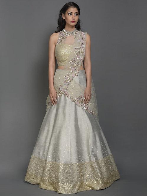 Ethnic | Silver Queen Lehnga Set | Indian | Lehnga