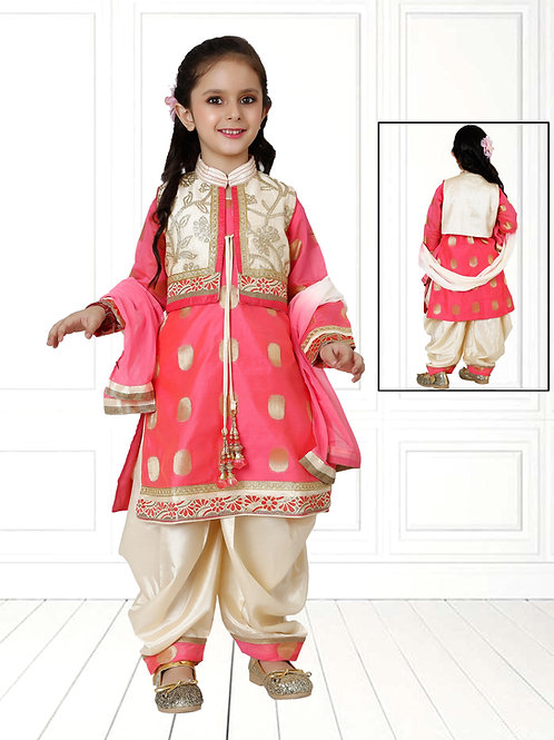 Ethnic, Kids Wear for Girls, Patiala suit, Kids Designer Clothing, Indian Fashion for Kids