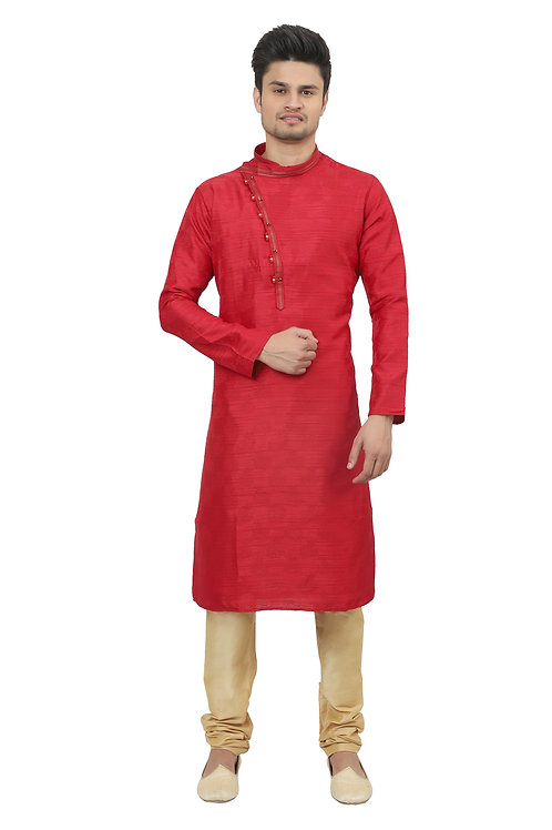 Ethnic | Kurta Paijama | Indian | Red| Full Sleeve