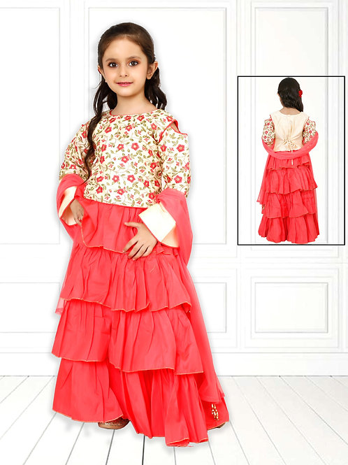 Ethnic, Kids Wear for Girls, Frill dress, Kids Indian Outfit, Kids Indian Dress