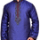 Ethnic | Woven Art Silk Jacquard Kurta Set in Bright Blue | Indian | Kurta Paijama