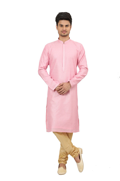 Ethnic | Kurta Paijama | Indian | Light Pink Color | Full Sleeve