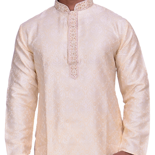 Ethnic | Embroidered Cotton Kurta Pajama in very light pink | Indian | Kurta Paijama