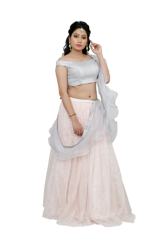 Ethnic | Chiffon Lehnga | Indian | Lehnga