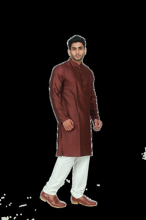 Ethnic   Embroidered Cotton Kurta Pajama in beautiful Mehroon   Indian   Kurta Paijama