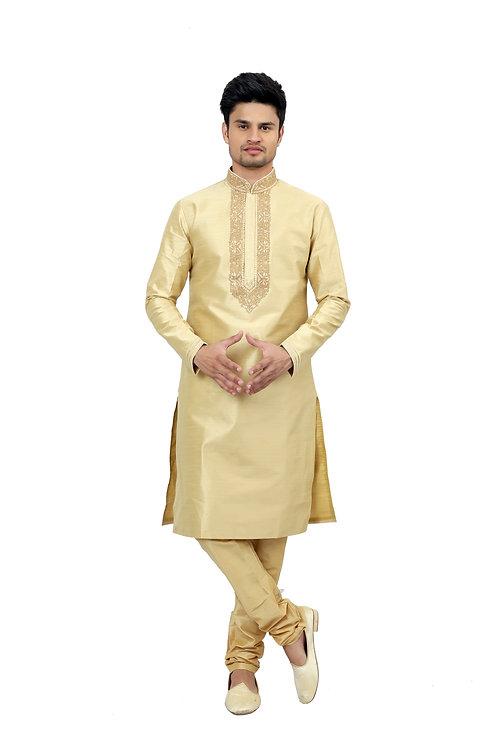 Ethnic | Kurta Paijama | Indian | Cream Color | Full Sleeve