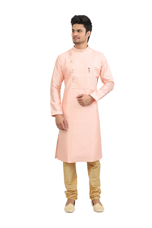 Ethnic | Kurta Paijama | Indian | Light Pink | Full Sleeve