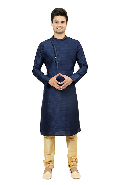 Ethnic | Kurta Paijama | Indian | Navy Color | Full Sleeve