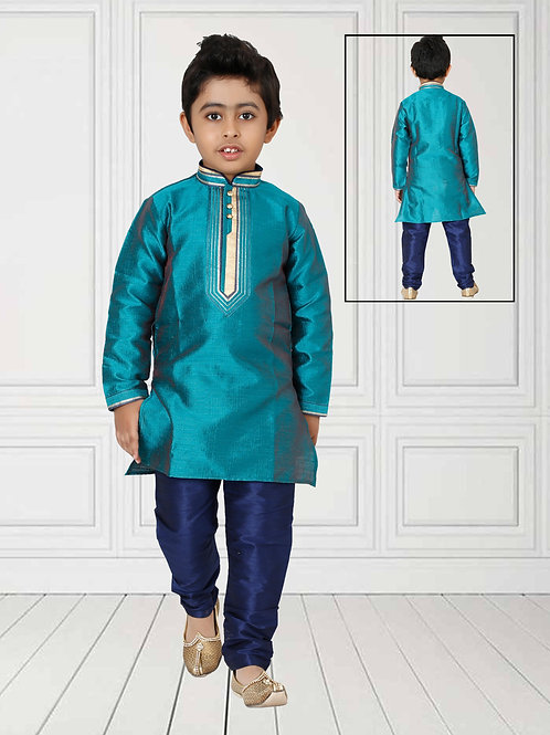 Ethnic, Kids Wear, Turquoise blue Kurta paijama, Kids Kurta Paijama, Kids Indian Outfit