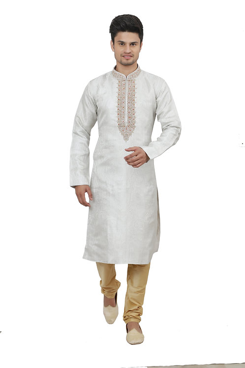 Ethnic | Kurta Paijama | Indian | Humble Grey Color | Full Sleeve