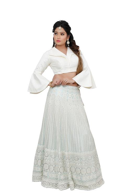 Ethnic | Off white Embroidered Lehnga Choli | Indian | Lehnga