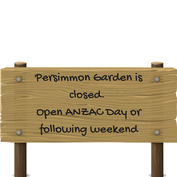 Persimmon Garden is now closed. Open aga