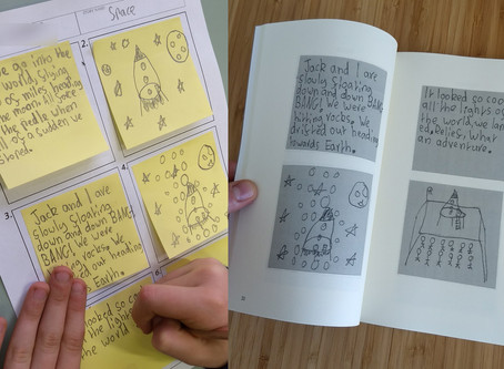Sticky-Note Stories with Sacred Heart School