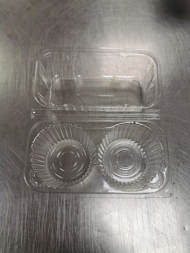 Clear Plastic Cupcake box with Lid - 5Pk