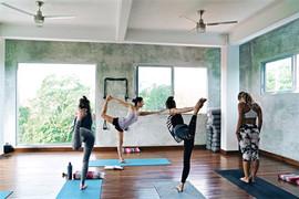 Yoga vinyasa flow with Iris
