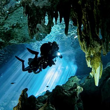 Cenote Cavern Dive 2 Sites