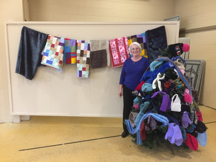 Blanket blessing and Christmas Potluck