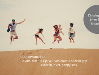 Ouderworkshop: je kind beter in zijn vel, van emotie naar begrip (14 en 21 mei)