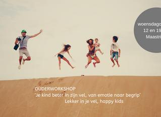 Ouderworkshop: je kind beter in zijn vel, van emotie naar begrip (12 en 19 juni)
