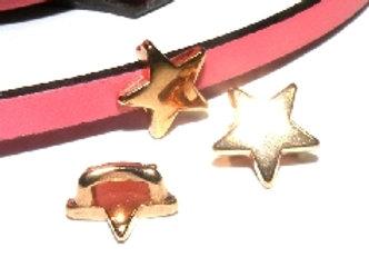 Star Slider Bead - Rose Gold - 5mm Hole
