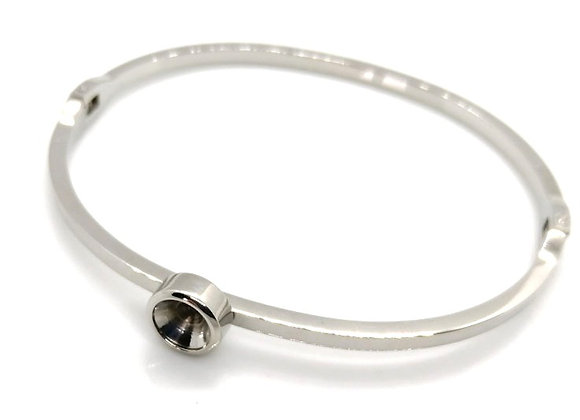 Stainless steel bangle for ss29 6mm chaton crystal swarovski