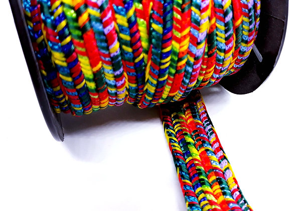 Large Flat Knitted Cord-  Multibright