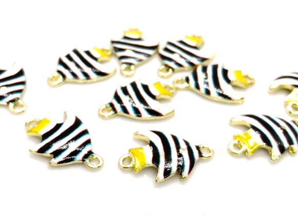 Colourful Tropical Fish Enamelled Link/Charm