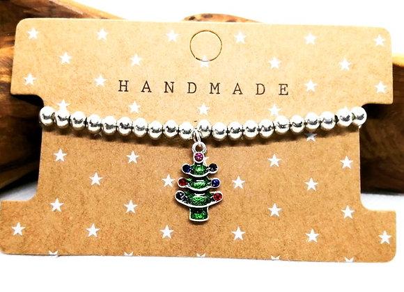 Christmas Bracelet Kit - Green Tree with Rhinestones