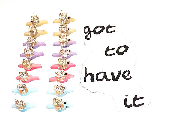 Bird shaped shell beads for jewellery making