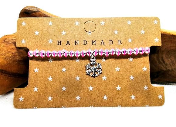 Christmas Bracelet Kit - Pinks with Snowflake