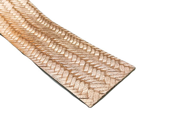Leather Strip - Textured Metallic Gold 1.4mm