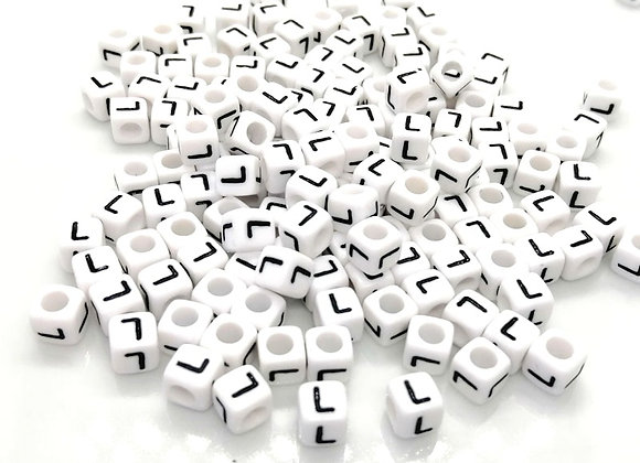 Acrylic Cube Letter L Pony Bead