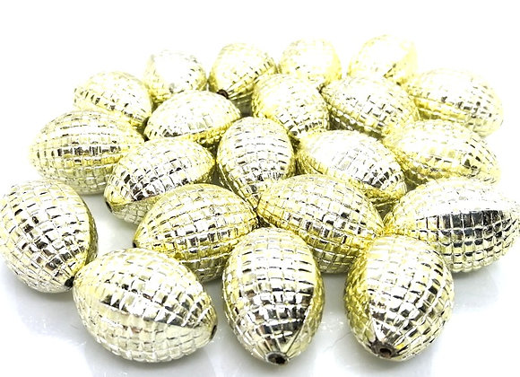 Large Light Gold Faceted Bead 28x20mm