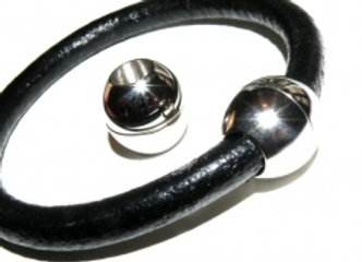 Ball Magnetic Clasp - 6mm Hole