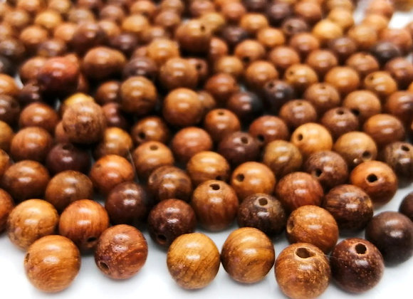 Saddle Brown Wooden Round Beads 8mm