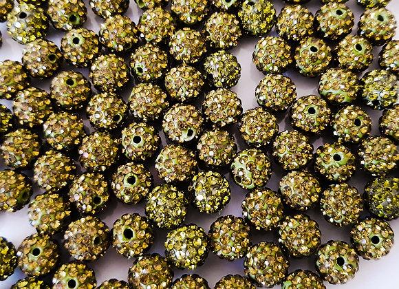 Baby Sham Olive Grade A Crystals 8mm