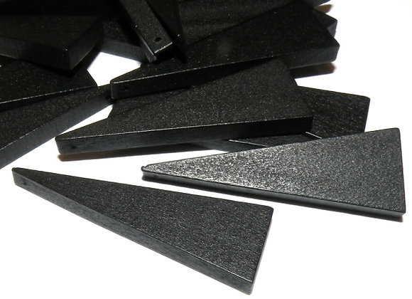 Wood Triangle Spacer Beads - Black Pack of 10