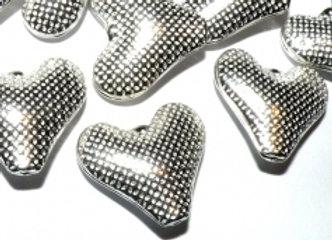Tibetan dimpled heart bead