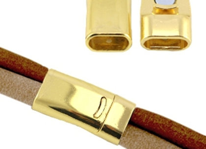 Gold Column Magnetic Clasp 10x5mm Hole