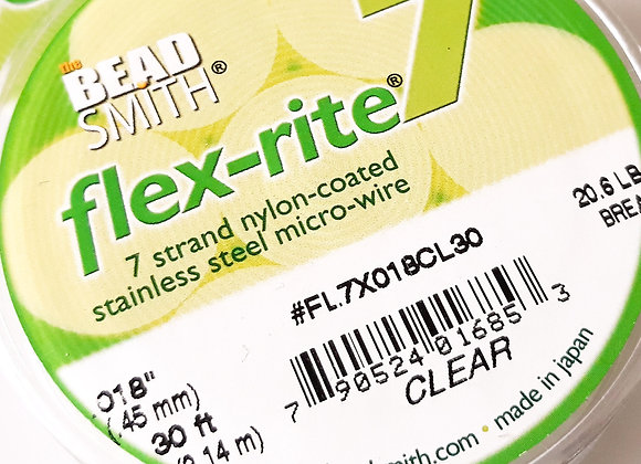Beadsmith flex-rite 7 Beading Wire Clear .018""