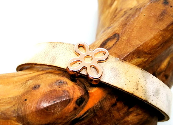 Zamak Slider Bead Flower Rose Gold - 10mm Hole