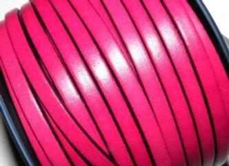 Fuschia Flat Leather 5mm