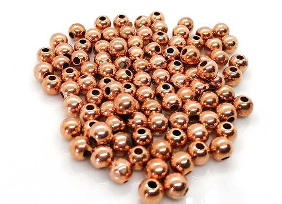 Rose Gold Round Bead - 5mm Pack of 10