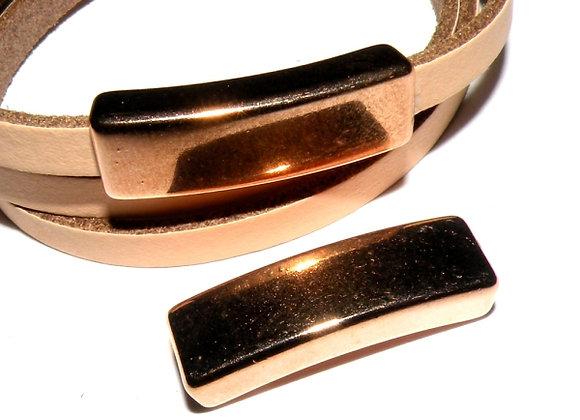 Metal Slider Bar - Rose Gold - 5mm Hole