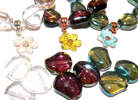 Glass AB Rainbow Colour Aurora Borealis Beads 15x13mm - Choice of Colours