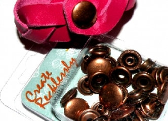 The Beadsmith Create Recklessly Antique Copper Line 20 Snap Pack