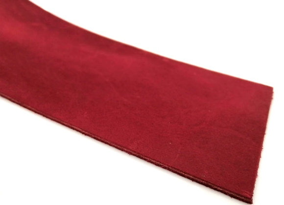 Italian Leather Strip - Red Rustic 1.8mm