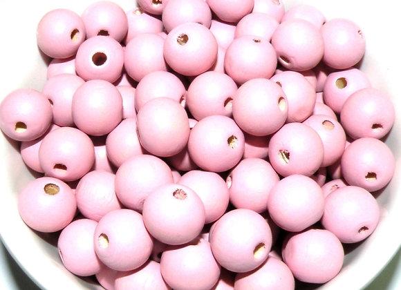 Wooden Bead Pack - Ballet Pink